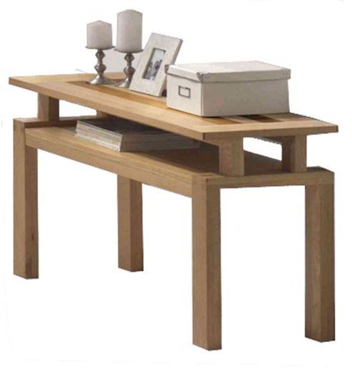 Ravenna Oak and Walnut Console Table