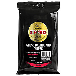 Simoniz Gloss Dashboard Wipes, 20 pack