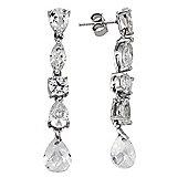 Rhodium-Coated Sterling Silver Drop Earrings