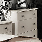 Welcome Furniture Kingston 3 Drawer Chest - Cream