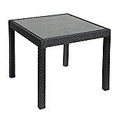 Cozy Bay Bistro Square Rattan Table in Black 4 Line