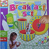 Kids Create Paint Your Own Breakfast Set