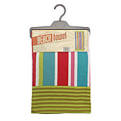 Country Club Microfibre Beach Towel, Summer Stripe