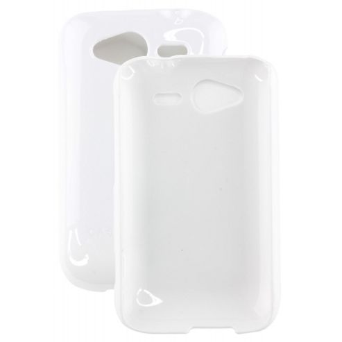 HTC Wildfire S - Barely There - White (Glossy) Case