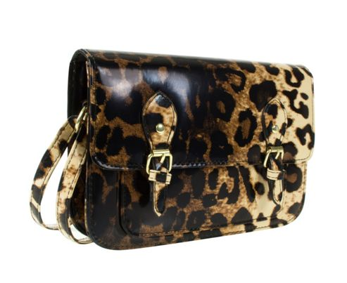 Barratts Leopard Print Double Buckle Trim Mini Satchel