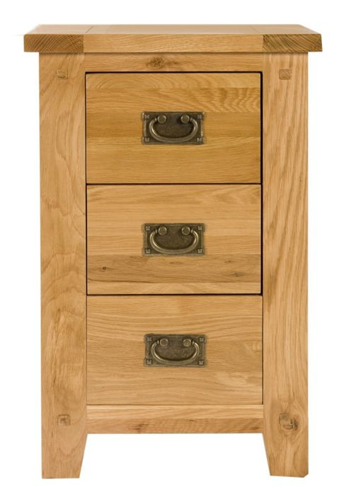 Elements Brunswick 3 Drawer Bedroom Bedside Table