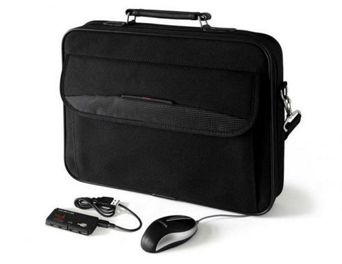 Toshiba 16 inch Laptop Starter Kit V Carrycase, Mouse, USB Hub