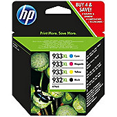 HP 932XL Black Ink Cartridge + 933XL Cyan/Magenta/Yellow Ink Cartridges (Combo Pack) for Officejet 7110/7610 Printer