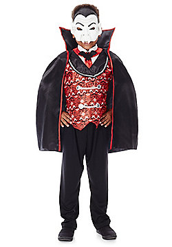 F&F Halloween Dracula Dress-Up Costume - Black & Red