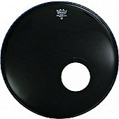 "Remo Powerstroke 3 Ebony Resonant with 5"" Dynamo Ring Installed (22in)"