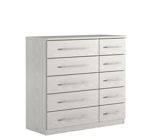 Urbane Designs Prague 10 Drawer Chest - White