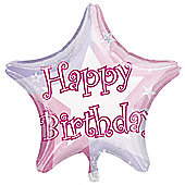 Amscan Happy Birthday Shimmer Star Balloon Pink