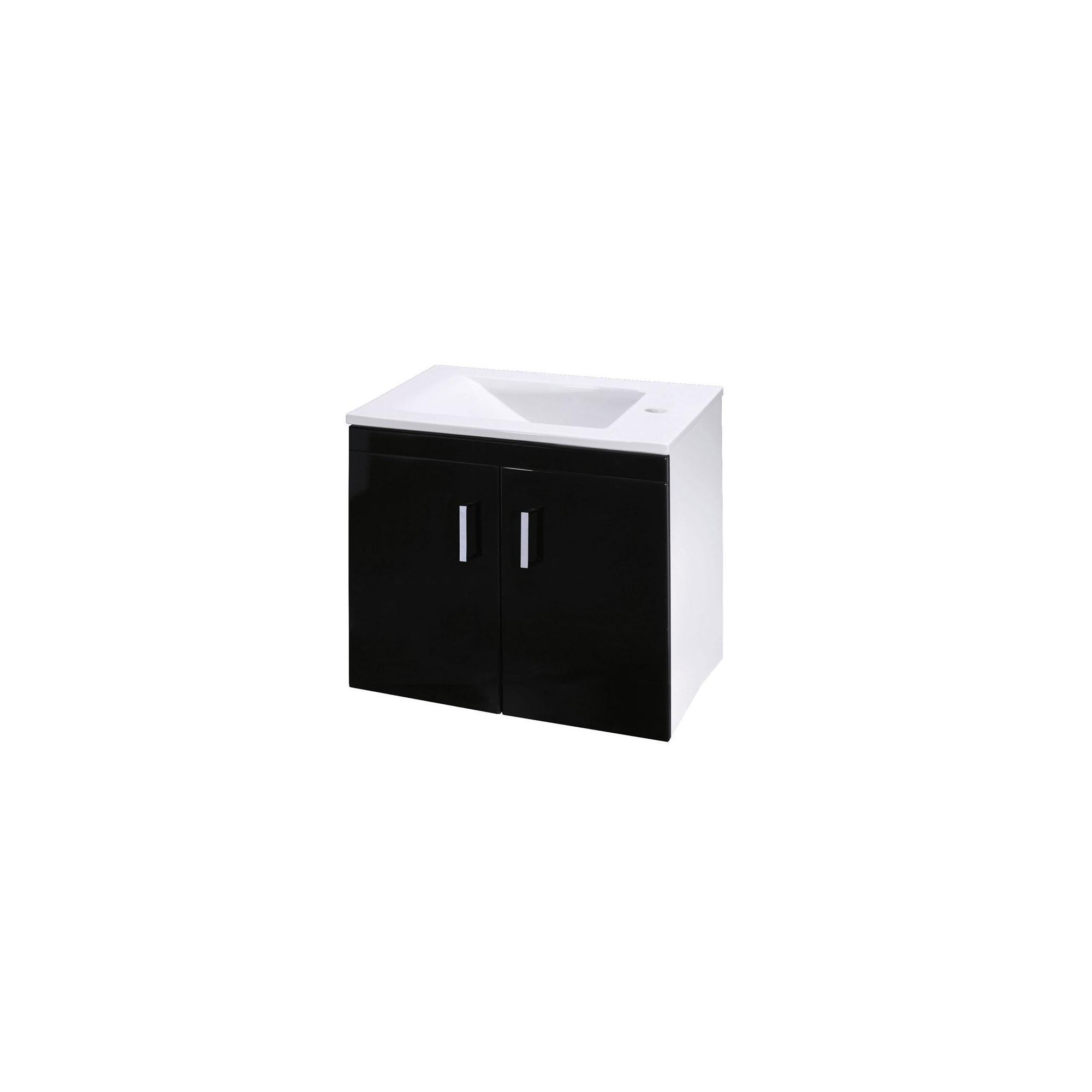 Premier Liberty Wall Mounted 2 Door Unit High Gloss Black