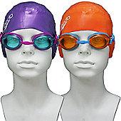 Speedo Jet Junior Silicone Swim Set - Orange