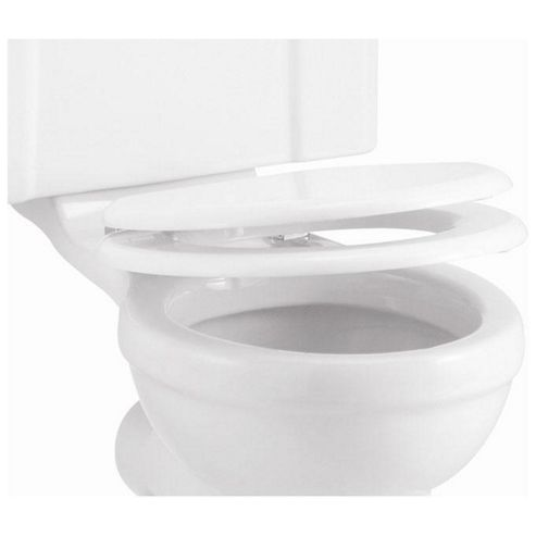 Burlington Soft Close Gloss White WC Seat