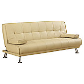 Home & Haus Manuel 3 Seater Clic Clac Sofa Bed - Cream