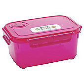 Smash Snaptight 1.8L Pink Food Container