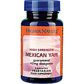 Higher Nature Mexican Yam 90 Veg Capsules