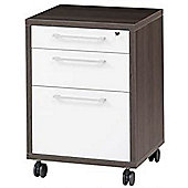 Peak - Mobile Lockable 4 Drawer Filing Table / Chest - White / Anthracite