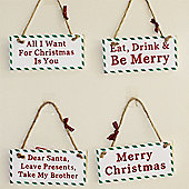 Christmas Novelty Signs