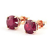 QP Jewellers 4.50ct Ruby Stud Earrings in 14K Rose Gold