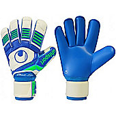 Uhlsport Eliminator Aquasoft Roll Finger Junior Goalkeeper Gloves - White
