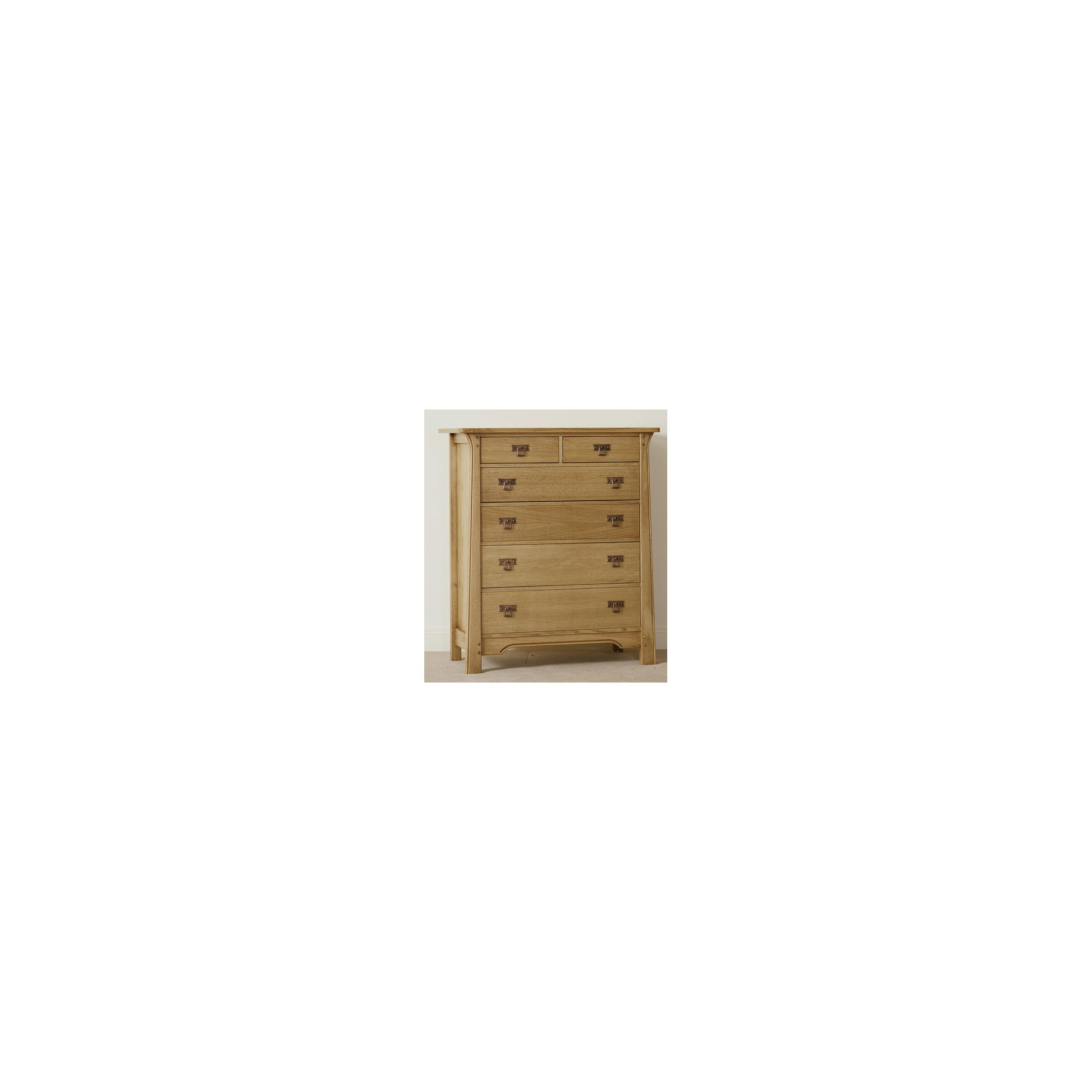 Sherry Designs Legacy Bedroom 6 Drawer Tall Chest - Light Honey at Tesco Direct