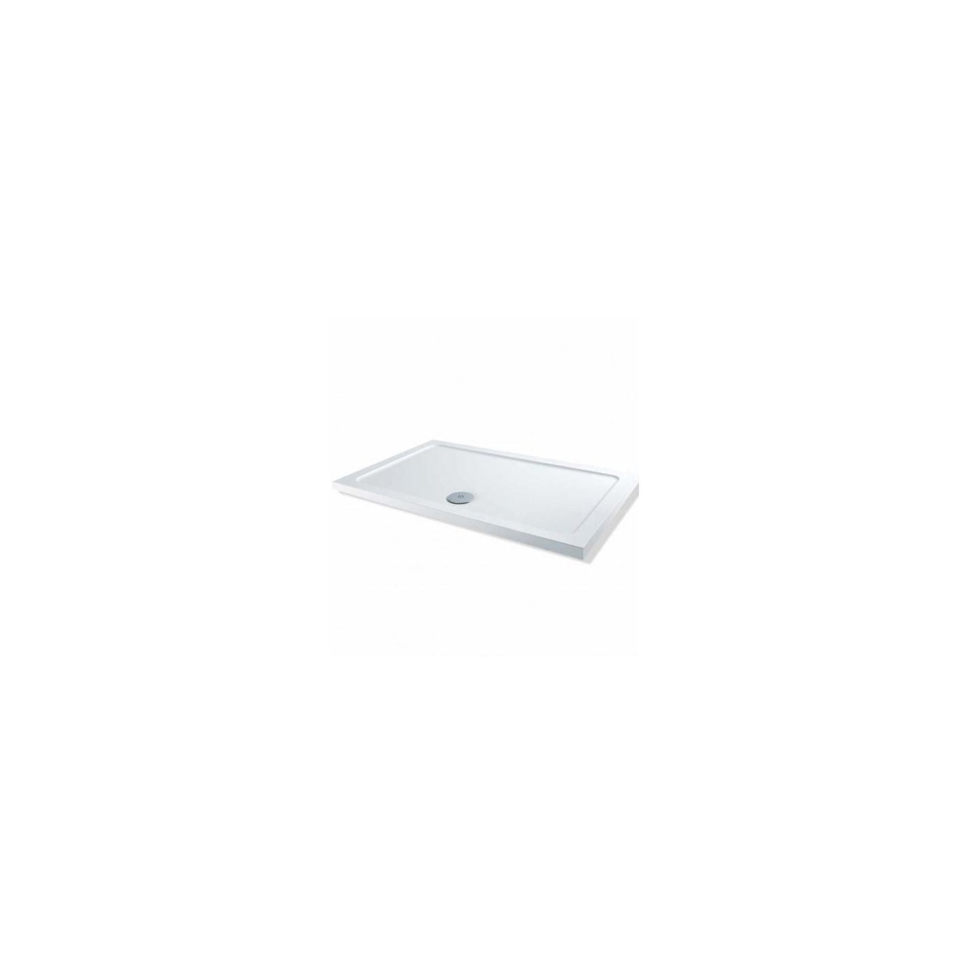 Elemis Low Profile Rectangular Stone Resin Shower Tray, 1400mm x 900mm at Tesco Direct