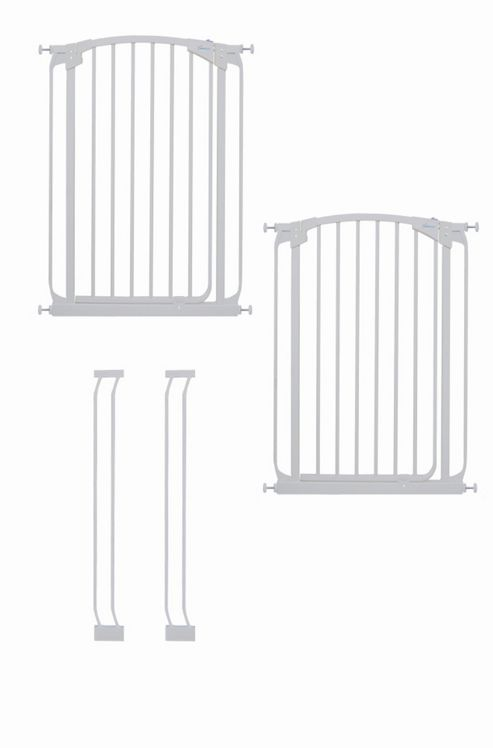 Dream Baby Extra-Tall Swing Close Security Gate Value Pack - White