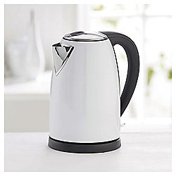 Tesco Stainless Steel Jug Kettle, 1.7L - White