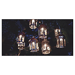 Tesco Marakesh Lantern Solar String Lights - Bronze