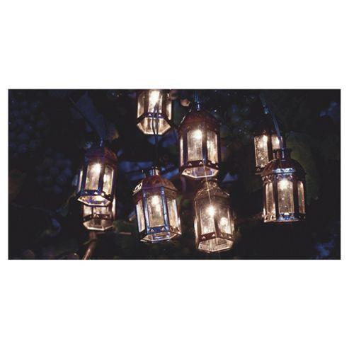 buy tesco marakesh lantern solar string lights bronze. Black Bedroom Furniture Sets. Home Design Ideas