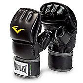 Everlast MMA Wrist Wrap Heavy Striking Bag Gloves - Black
