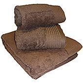 Luxury Egyptian Cotton Bath Sheet - Chocolate