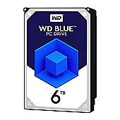 WD 6TB Blue 64 MB 3.5IN SATA 6 Gb/s Hard Drive