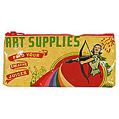 Blue Q Pencil Case Art Supplies