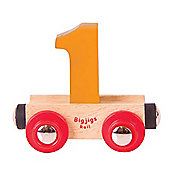 Bigjigs Rail Rail Name Number 1 (Orange)