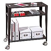 Kent - Three Shelf Mobile Storage Unit - Black