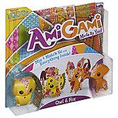 AmiGami Owl & Fox