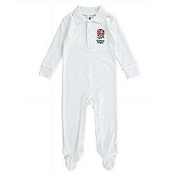 England RFU Baby Rugby Kit Sleepsuit - 2015/16