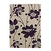 Oriental Carpets & Rugs Hong Kong Cream/Purple Tufted Rug - 230cm L x 150cm W