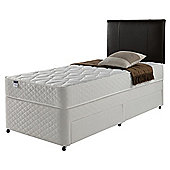 Silentnight Miracoil Comfort Micro Quilt Non Storage Divan, Single.