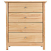 New Pine 4 Drawer Chest