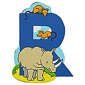 Bigjigs Toys BJL218 Wooden Magnetic Animal Letter Uppercase R (Designs Vary)