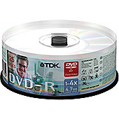 TDK DVD-R 4.7GB 16X Spindle of 25