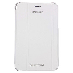"Samsung Galaxy Tab 2 Book Cover Case with Stand 7""- White"