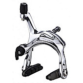 Acor Dual Pivot Caliper Brake: 47/60mm Reach: Silver Rear.
