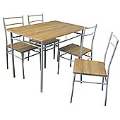 Harbour Housewares 5 Piece Kitchen Dining Table & Chairs Set - White