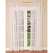 Slot Top Single Voile Curtain Panel - White