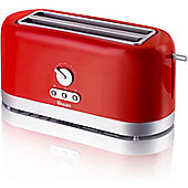 Swan 4 Slice LongSlot Toaster - Red